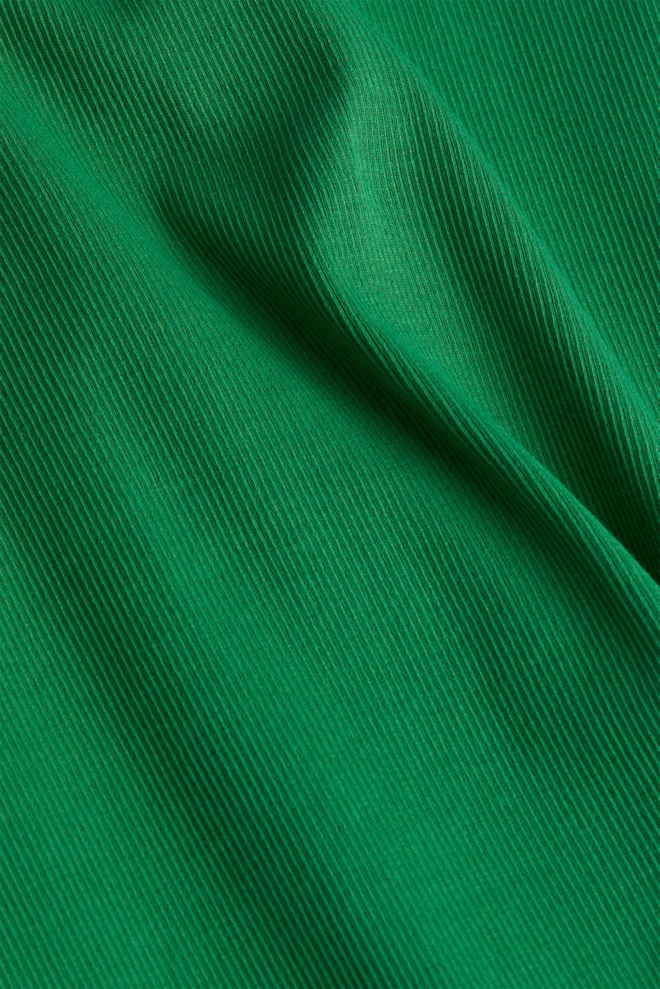 Dress made of ribbed jersey, GREEN, detail image number 4