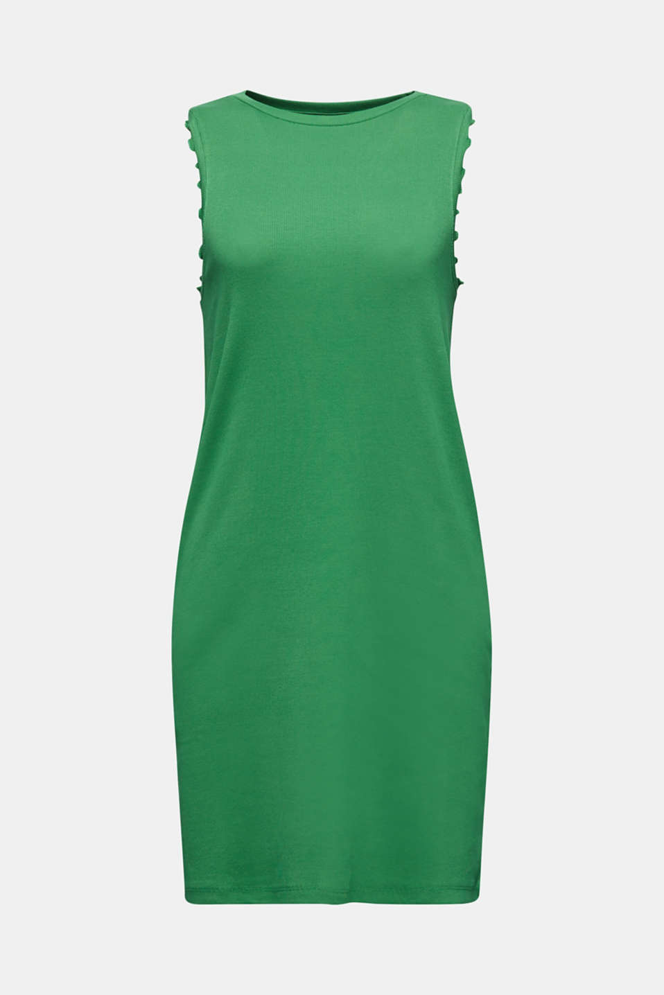 Dress made of ribbed jersey, GREEN, detail image number 5