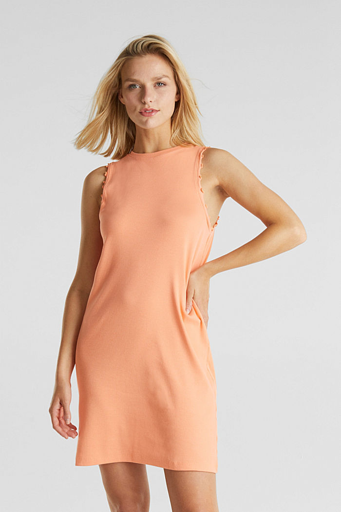 Dress made of ribbed jersey, SALMON, detail image number 0