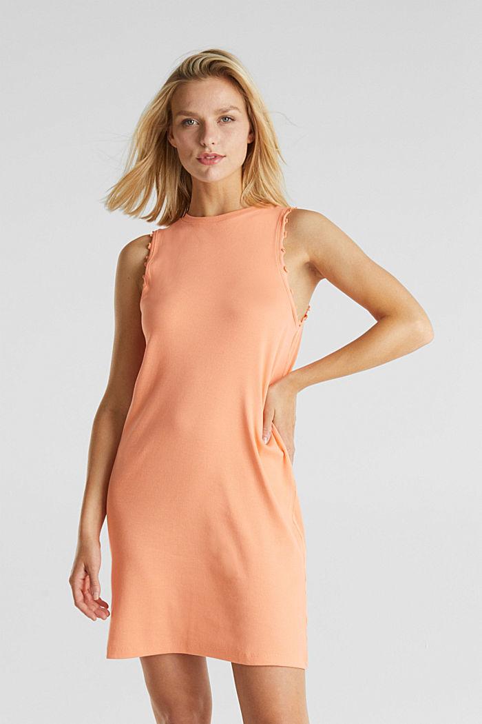 Kleid aus Ripp-Jersey