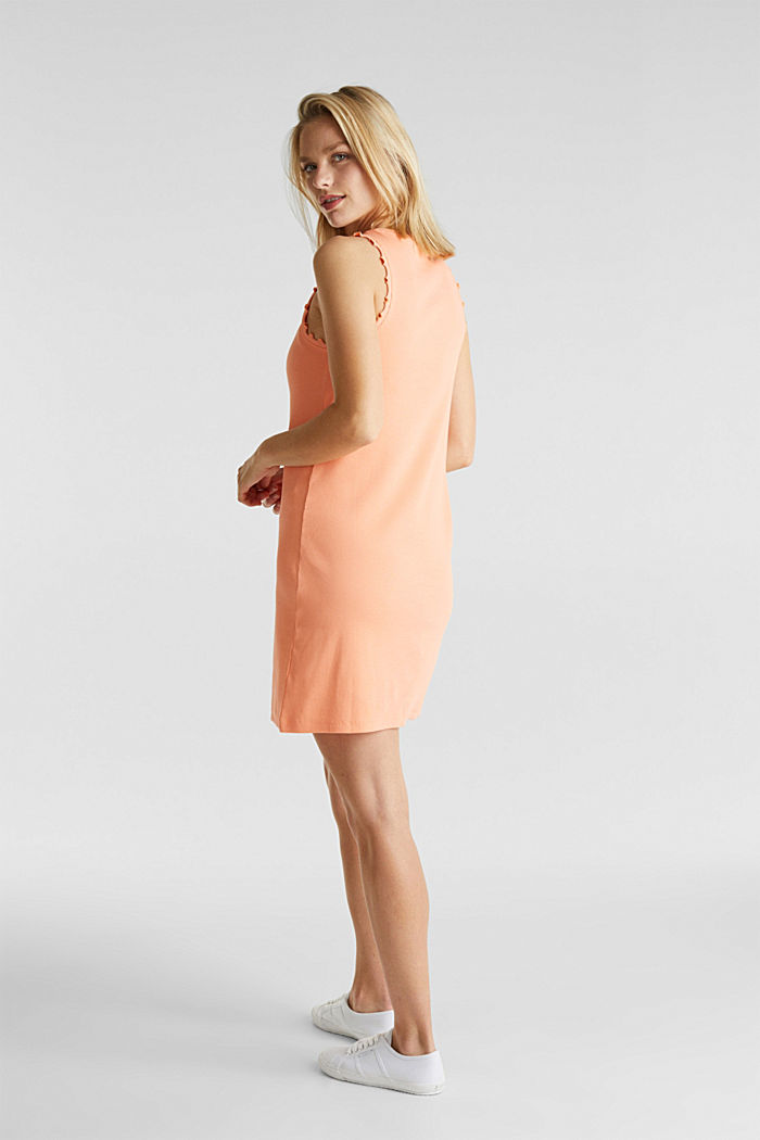 Dress made of ribbed jersey, SALMON, detail image number 2