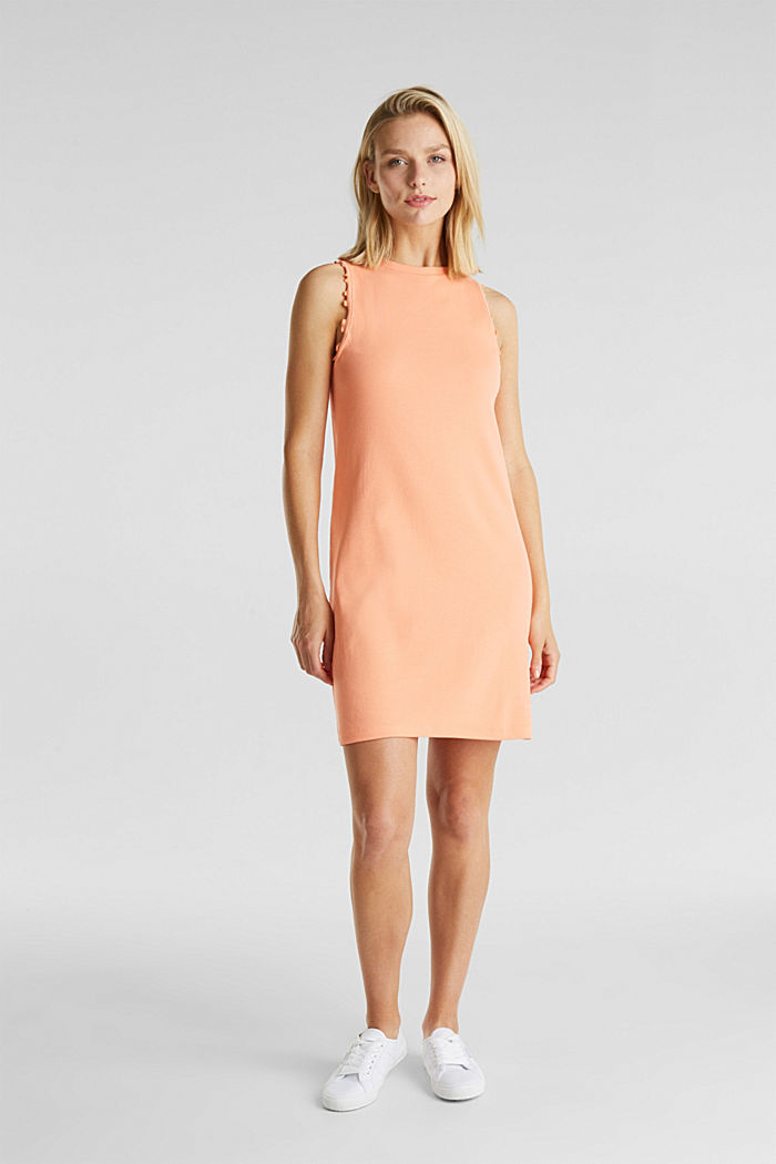 Dress made of ribbed jersey, SALMON, detail image number 1