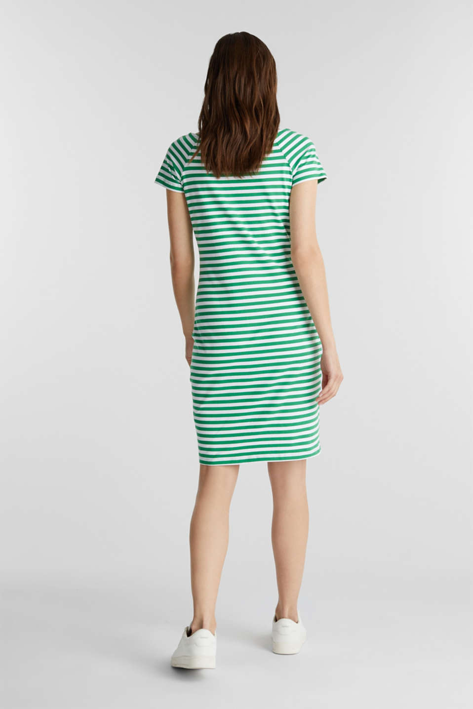 Jersey dress with organic cotton, GREEN, detail image number 2