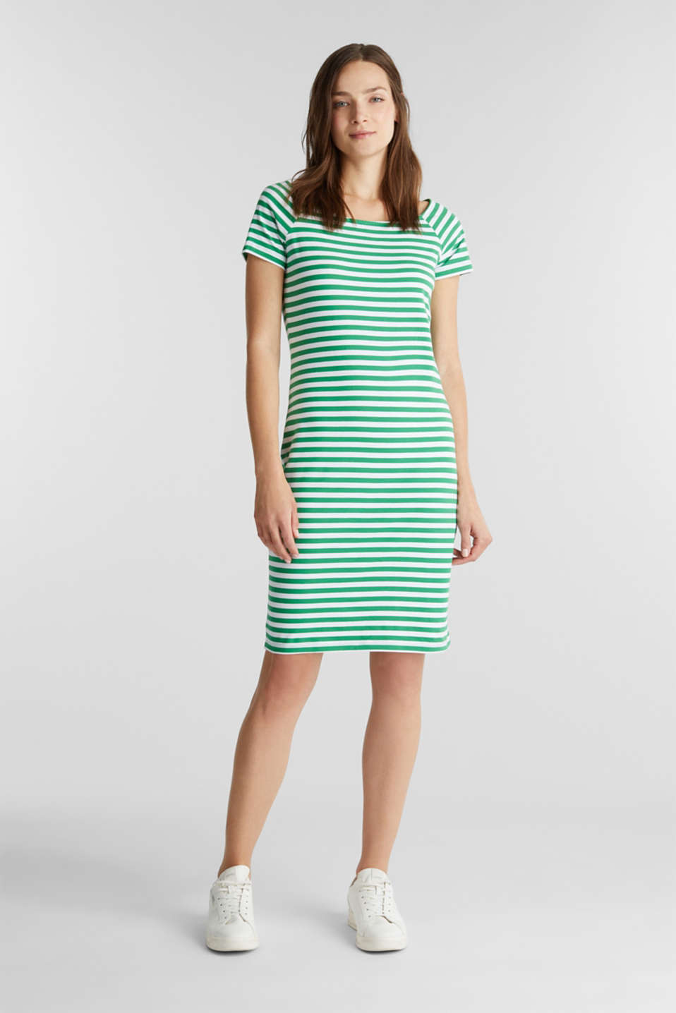 Jersey dress with organic cotton, GREEN, detail image number 1