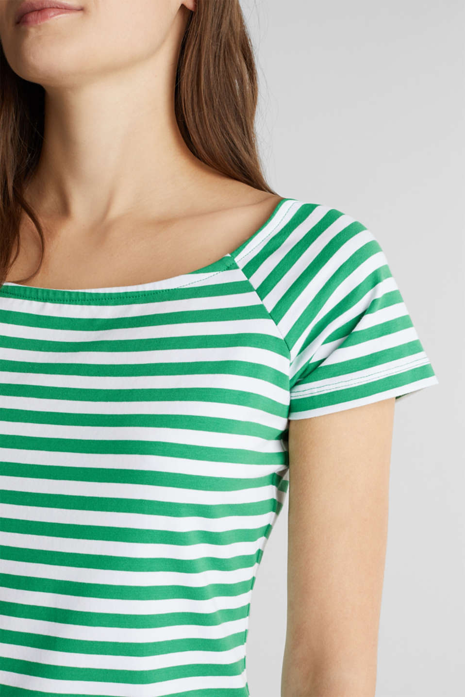 Jersey dress with organic cotton, GREEN, detail image number 3