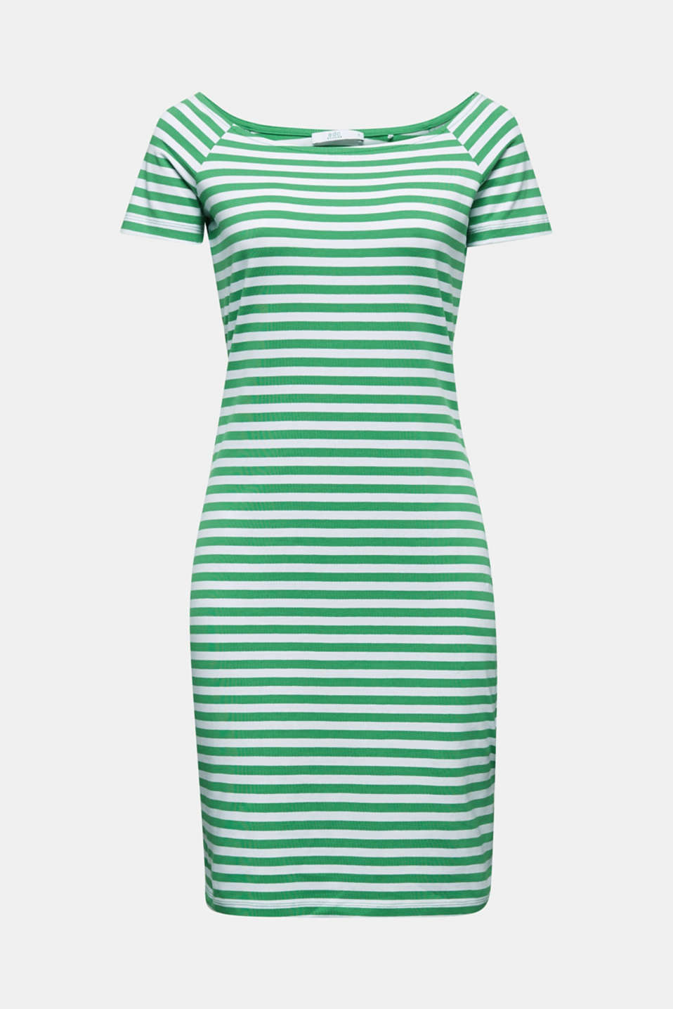 Jersey dress with organic cotton, GREEN, detail image number 5