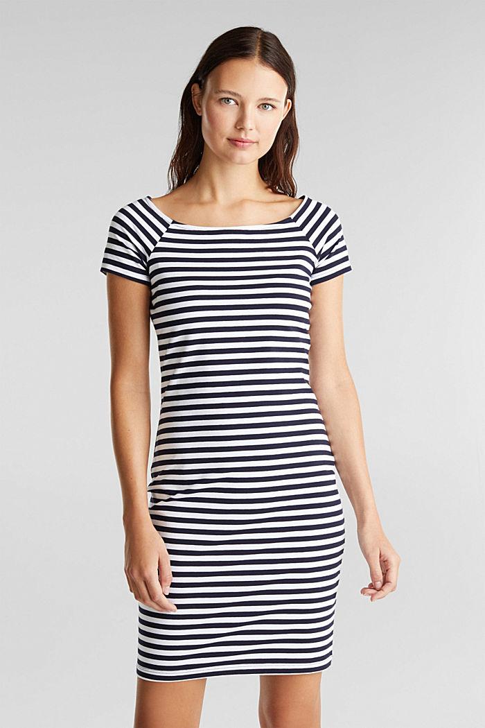 Jersey-Kleid mit Organic Cotton, NAVY, detail image number 0