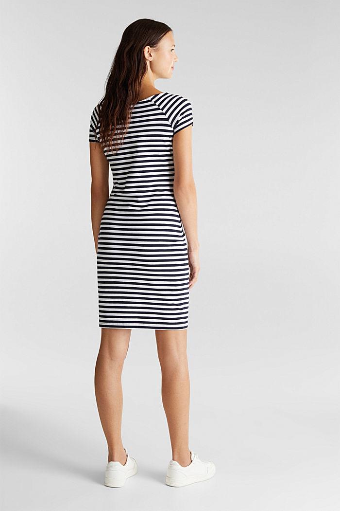 Jersey-Kleid mit Organic Cotton, NAVY, detail image number 2