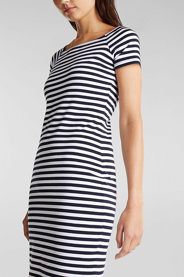 Jersey-Kleid mit Organic Cotton, NAVY, detail image number 3