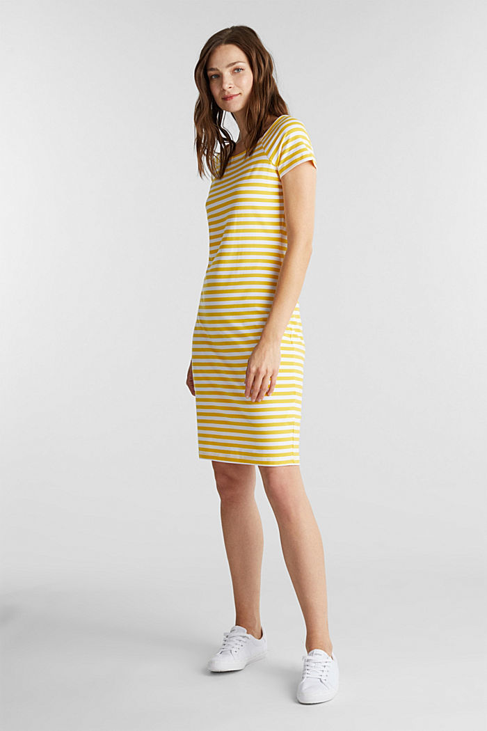 Jersey dress with organic cotton, YELLOW, detail image number 0