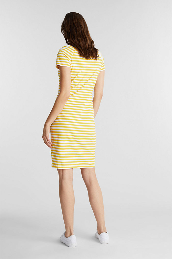 Jersey dress with organic cotton, YELLOW, detail image number 2