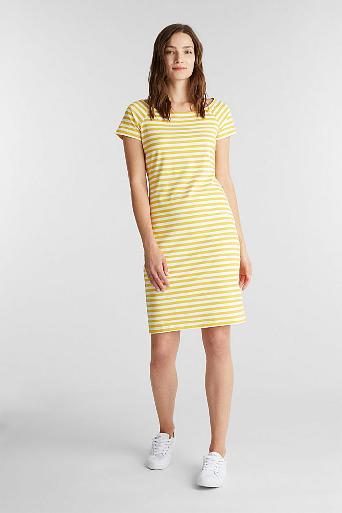 Jersey dress with organic cotton, YELLOW, detail image number 1