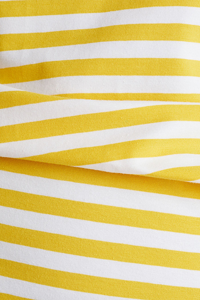 Jersey dress with organic cotton, YELLOW, detail image number 4
