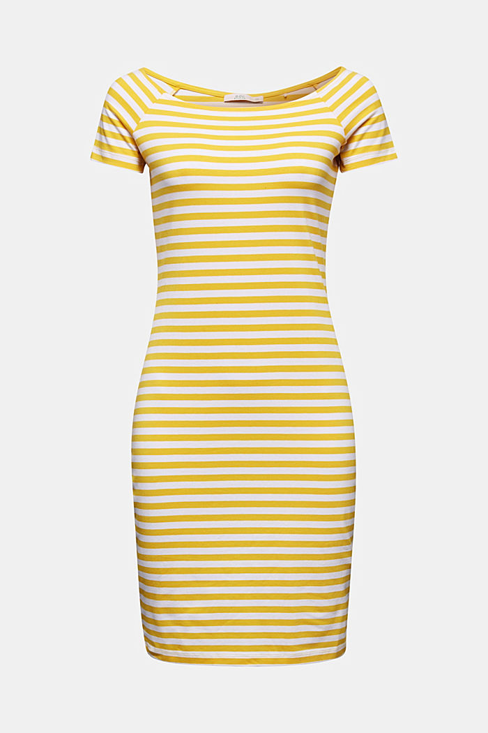 Jersey dress with organic cotton, YELLOW, detail image number 5