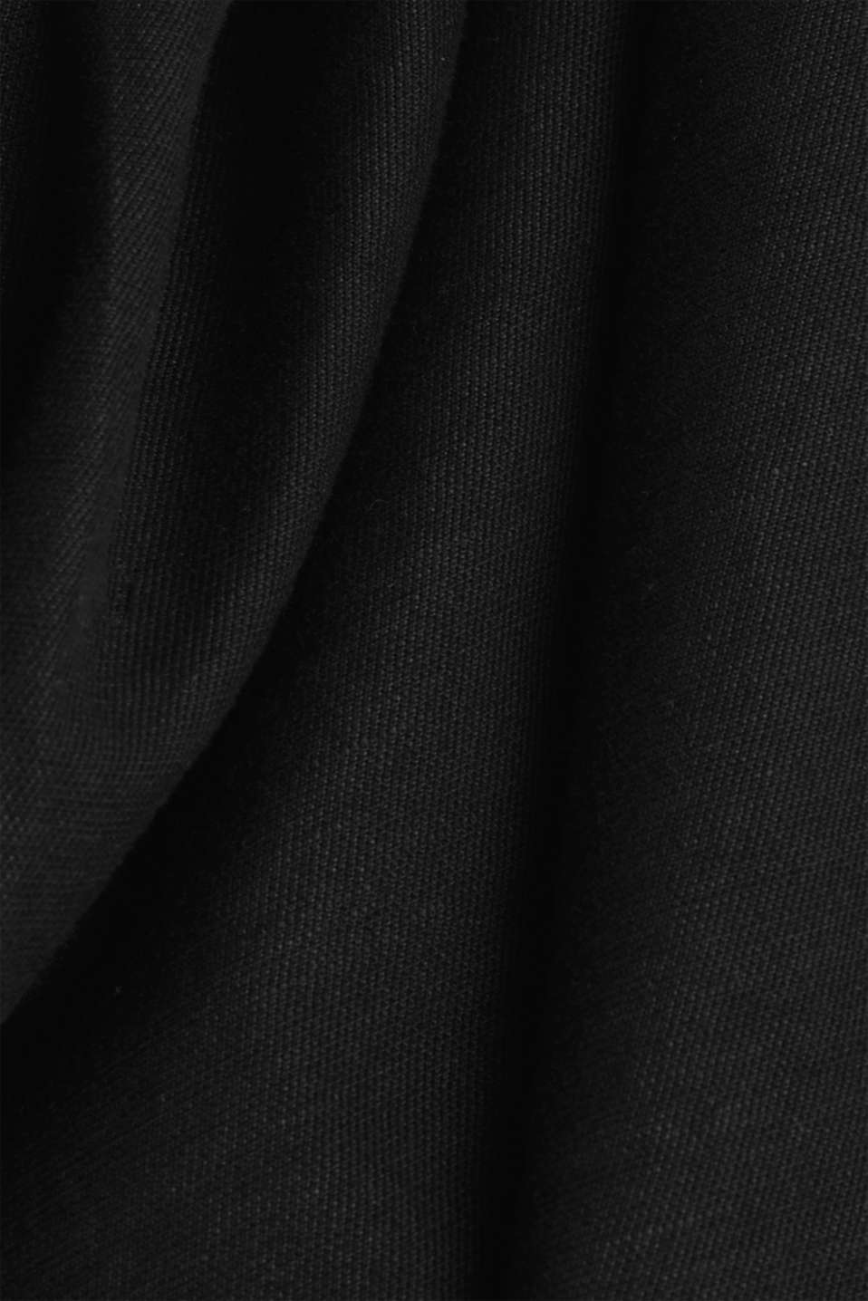 With linen: Dress made of blended cotton, BLACK, detail image number 4