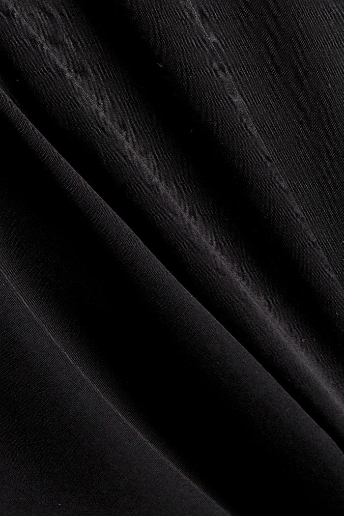 Levenevä midimekko puhdasta viskoosia, BLACK, detail image number 4