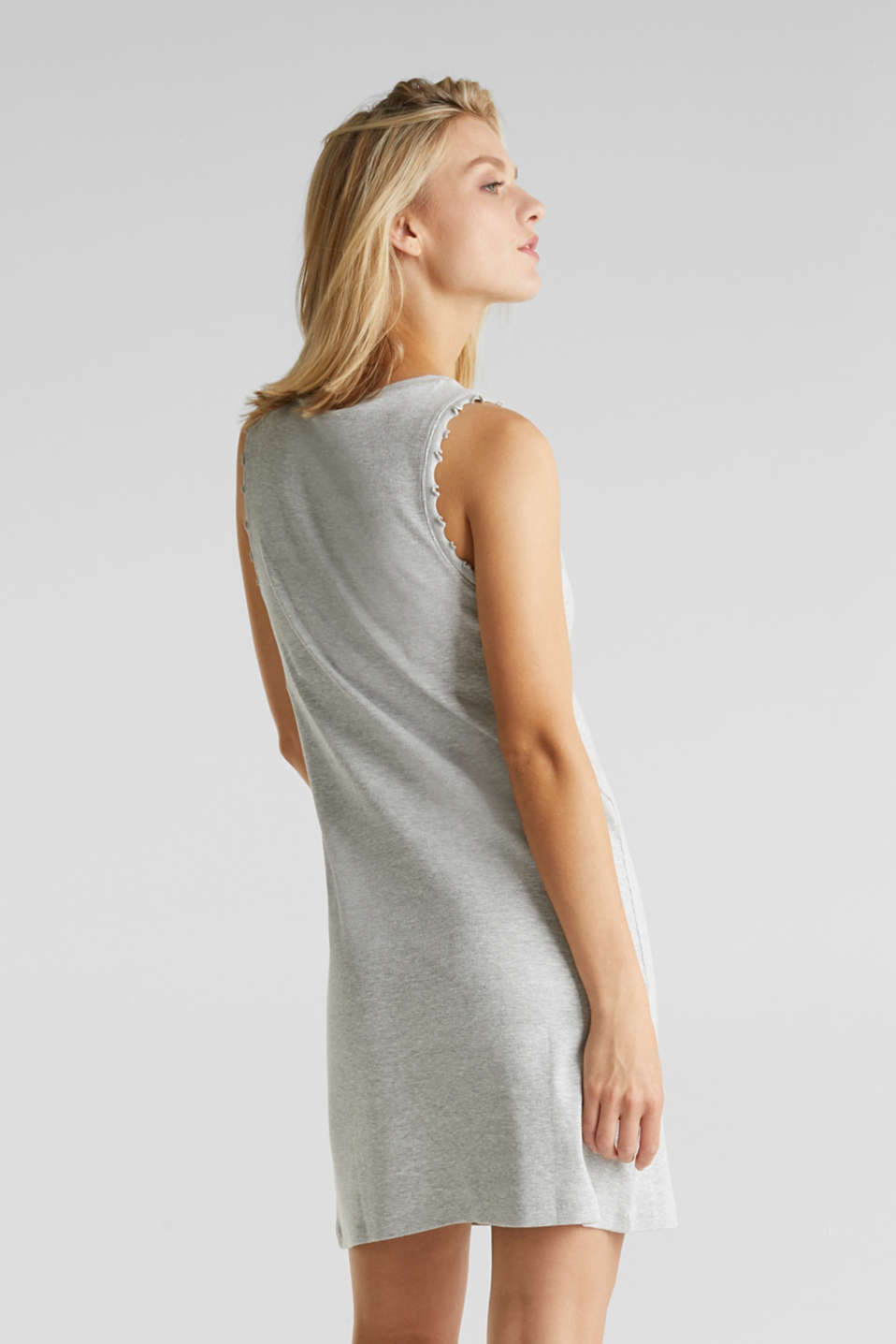 Ribbed jersey tank top dress, LIGHT GREY 5, detail image number 2