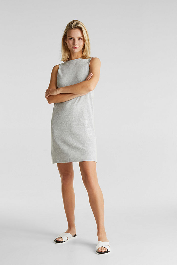 Ribbed jersey tank top dress, LIGHT GREY, detail image number 1