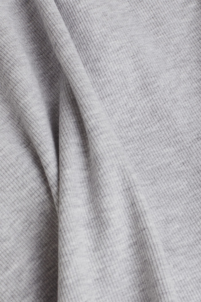 Ribbed jersey tank top dress, LIGHT GREY, detail image number 4