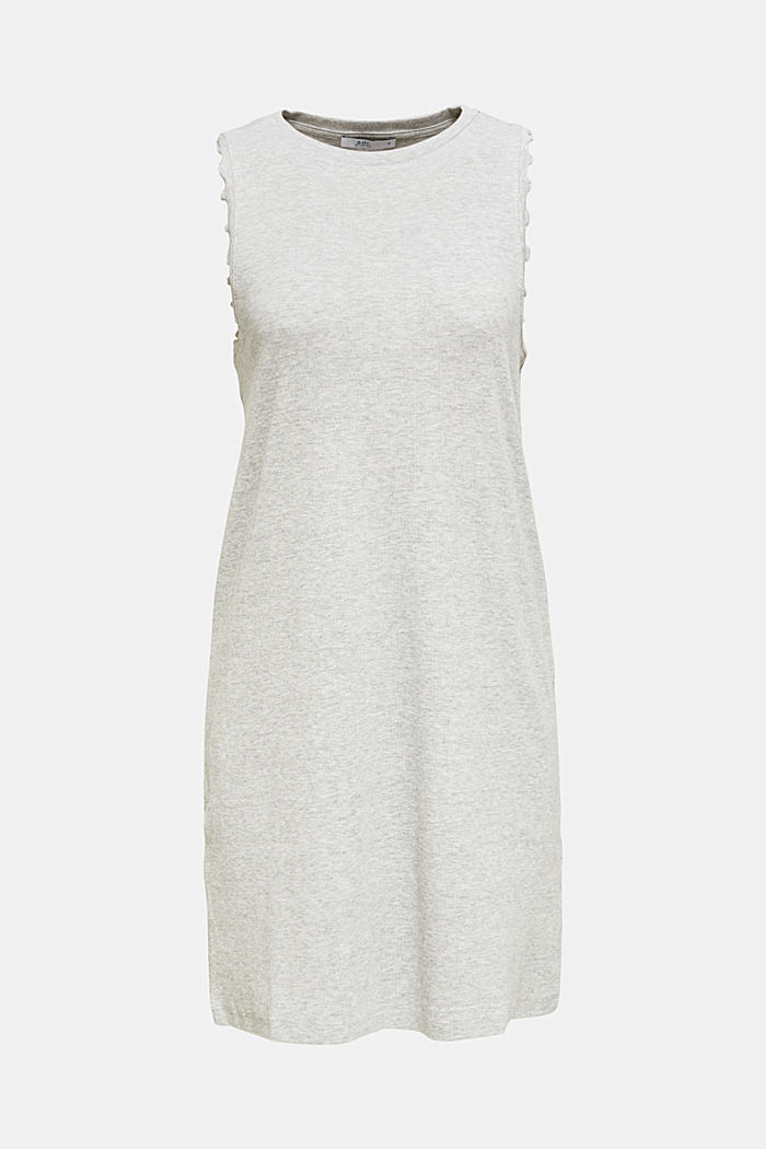 Ribbed jersey tank top dress, LIGHT GREY, detail image number 5