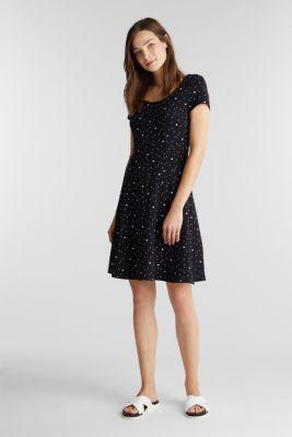 Print jersey dress with organic cotton, BLACK 2, detail