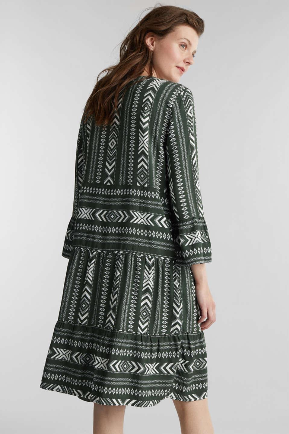 Print dress made of LENZING™ ECOVERO™, KHAKI GREEN 4, detail image number 2