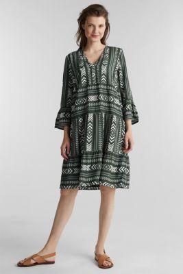 Print dress made of LENZING™ ECOVERO™, KHAKI GREEN 4, detail