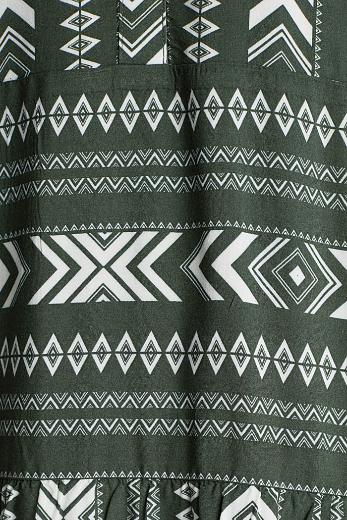Print dress made of LENZING™ ECOVERO™, KHAKI GREEN, detail image number 4