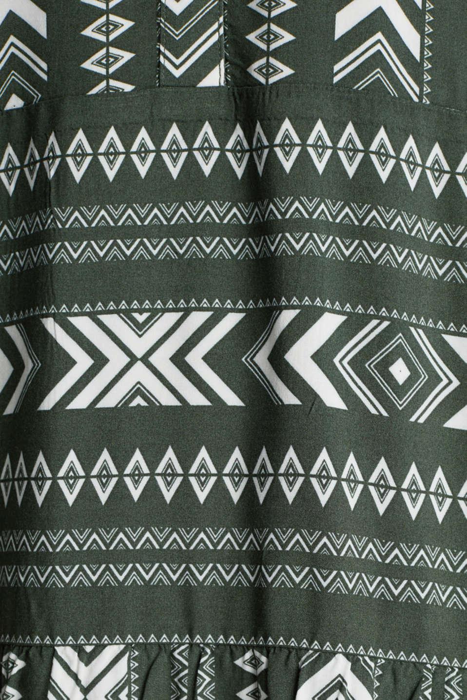 Print dress made of LENZING™ ECOVERO™, KHAKI GREEN 4, detail image number 4
