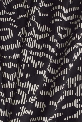 Woven dress with a graphic print, BLACK 3, detail