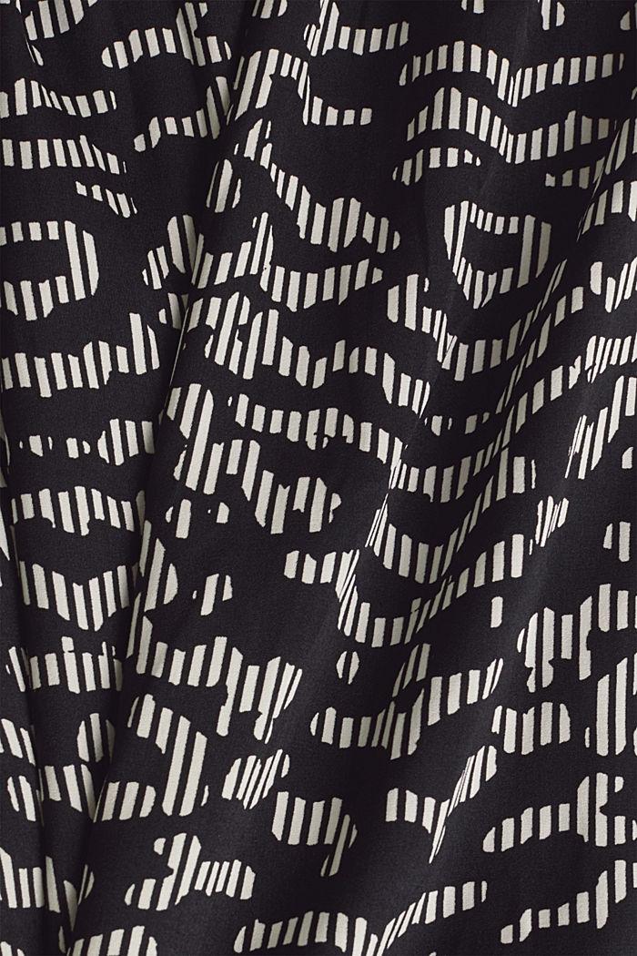 Tkané šaty sgrafickým potiskem, BLACK, detail image number 4