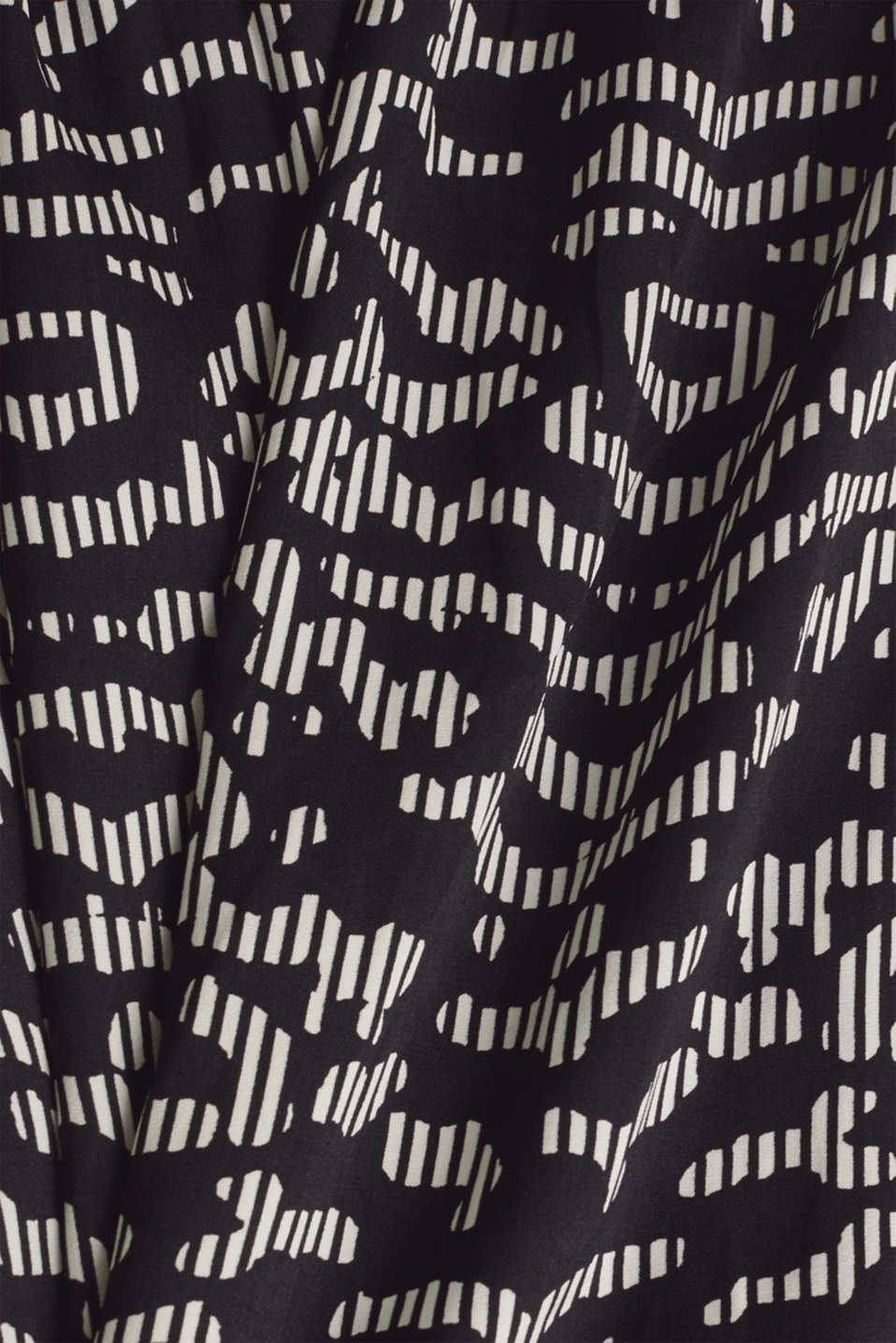 Woven dress with a graphic print, BLACK 3, detail image number 4