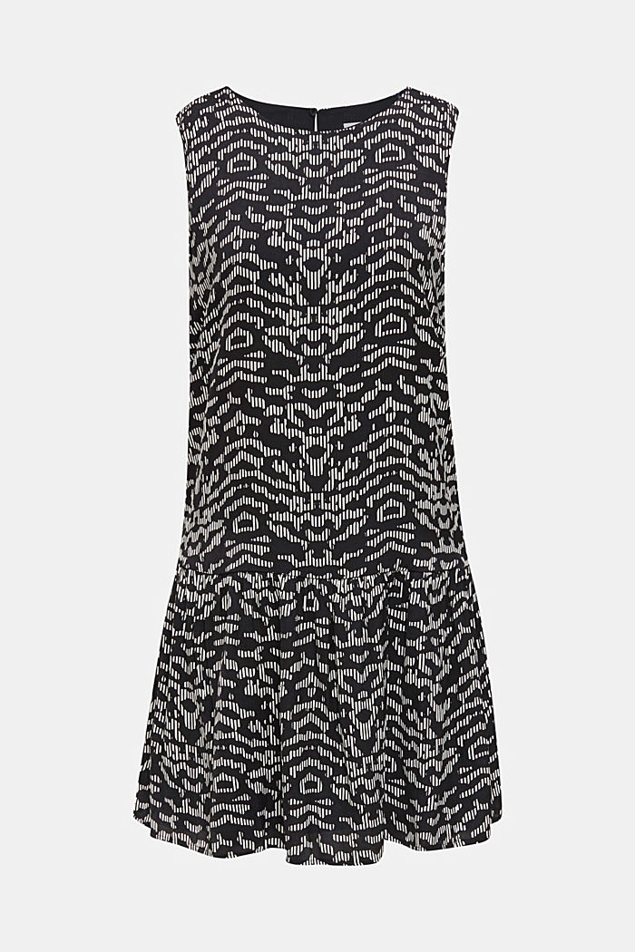 Tkané šaty sgrafickým potiskem, BLACK, detail image number 6