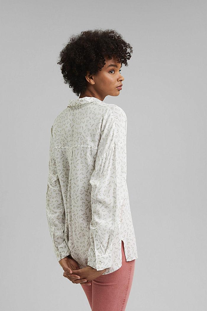 Overhemdblouse van LENZING™ ECOVERO™, WHITE, detail image number 3