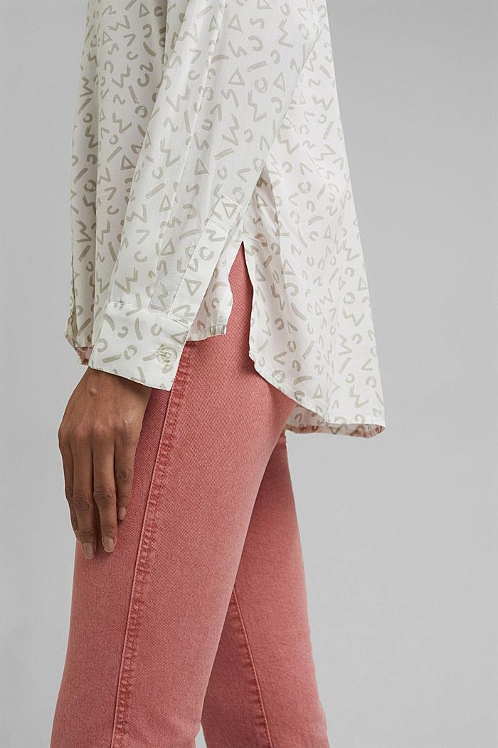 Overhemdblouse van LENZING™ ECOVERO™, WHITE, detail image number 2