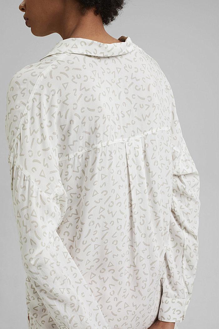Overhemdblouse van LENZING™ ECOVERO™, WHITE, detail image number 5