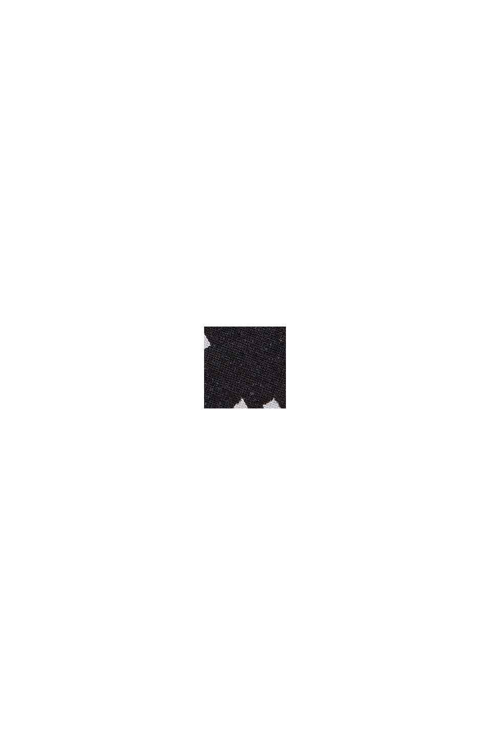 Blusa de nudos en LENZING™ ECOVERO™, BLACK, swatch