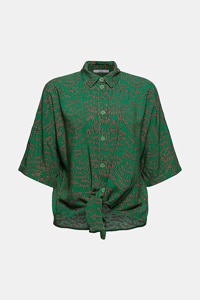 Knoten-Bluse aus LENZING™ ECOVERO™