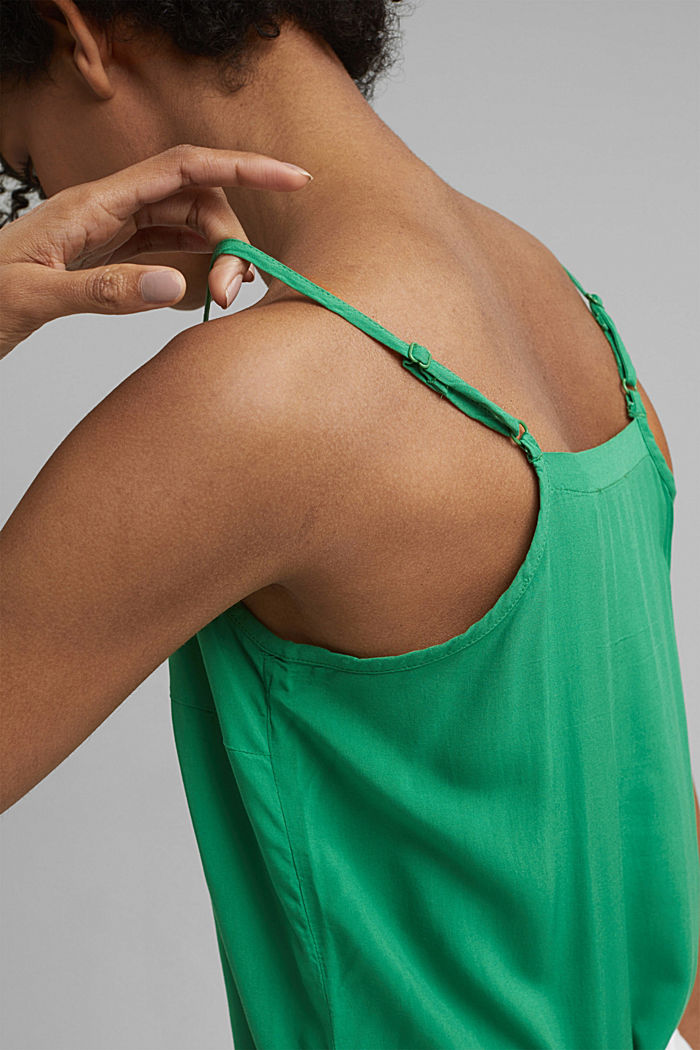 LENZING™ ECOVERO™ strappy top, GREEN, detail image number 2