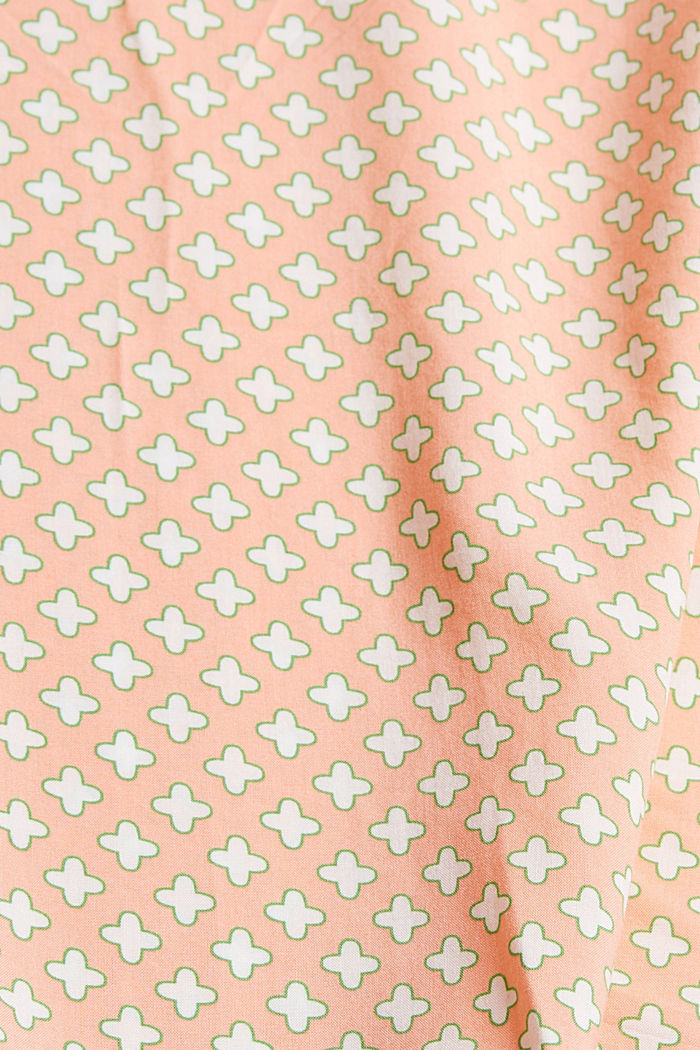 Printed strappy top made of LENZING™ ECOVERO™, SALMON, detail image number 4