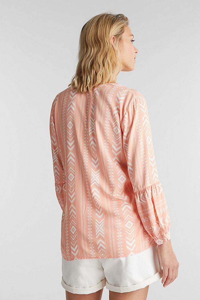 Embroidered tunic made of LENZING™ ECOVERO™, SALMON, detail image number 2