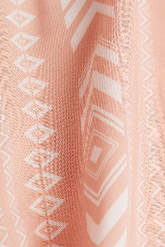 Bestickte Tunika aus LENZING™ ECOVERO™, SALMON, detail image number 3