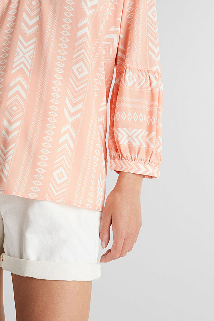 Embroidered tunic made of LENZING™ ECOVERO™, SALMON, detail image number 4