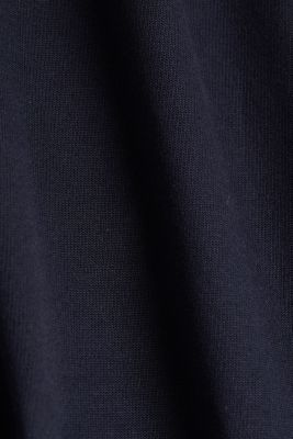 Short-sleeved sweatshirt with terry cloth, NAVY, detail