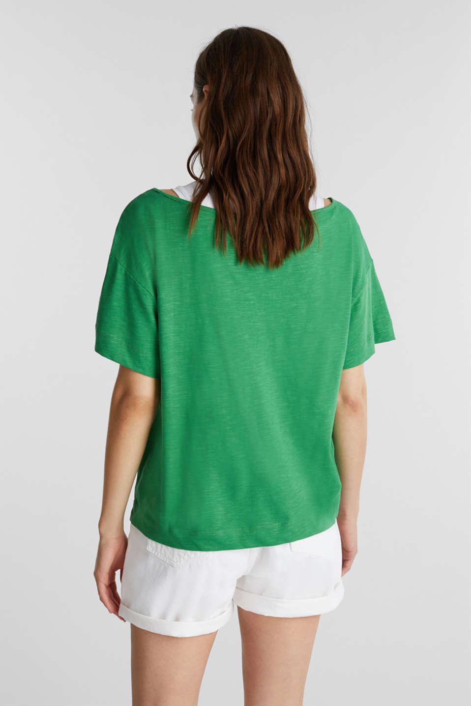 Layered tops made of organic cotton, GREEN, detail image number 3
