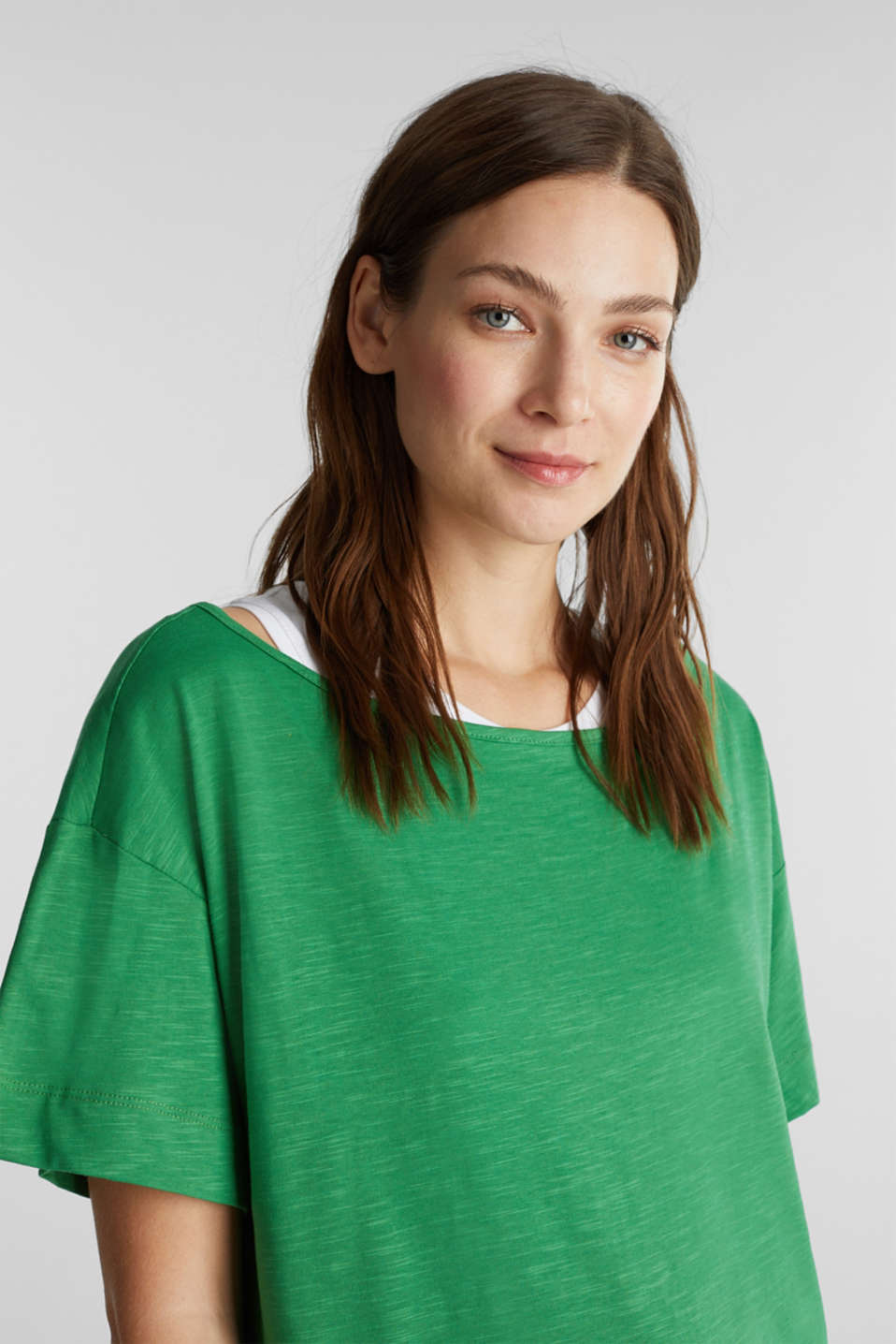 Layered tops made of organic cotton, GREEN, detail image number 5