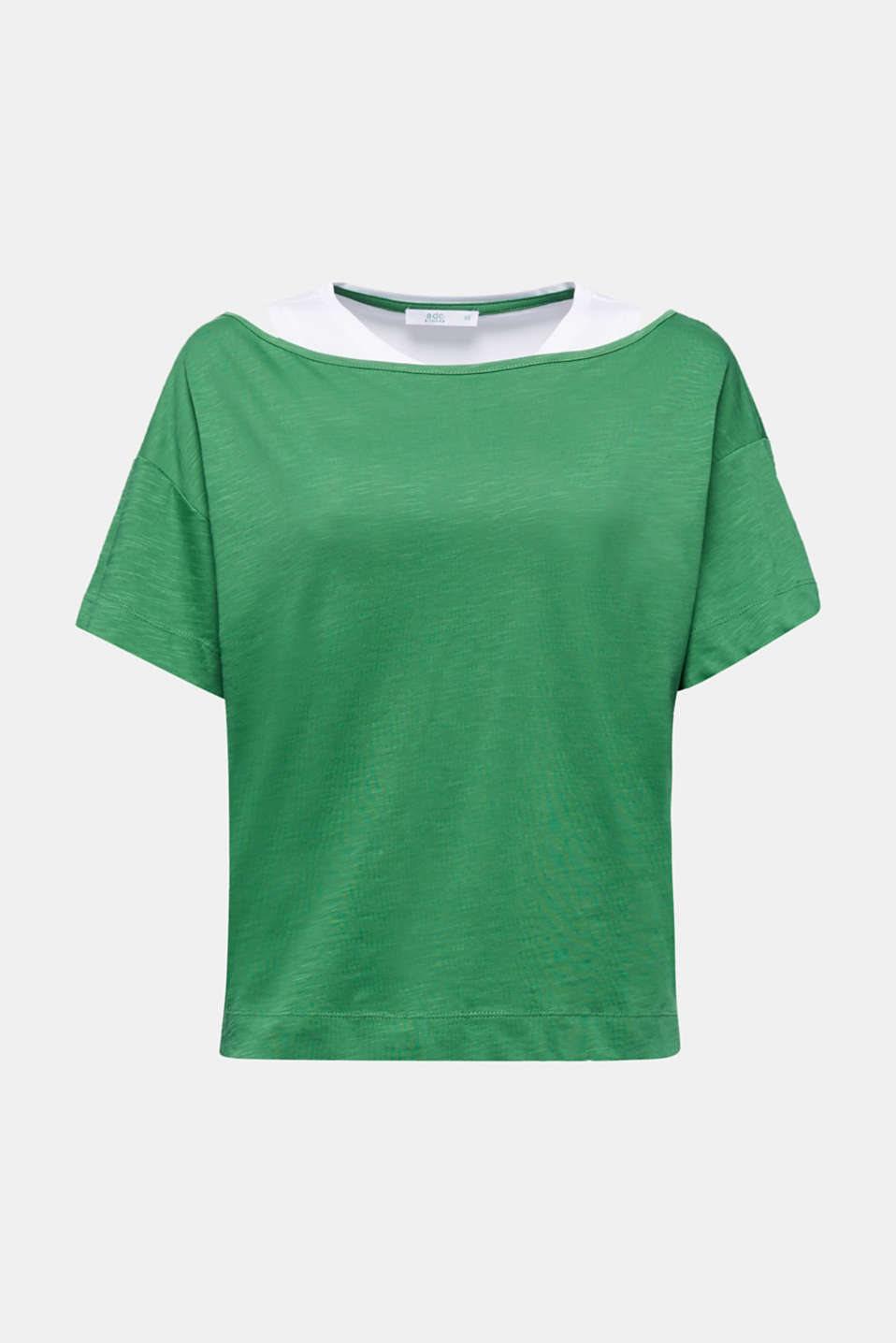 Layered tops made of organic cotton, GREEN, detail image number 6