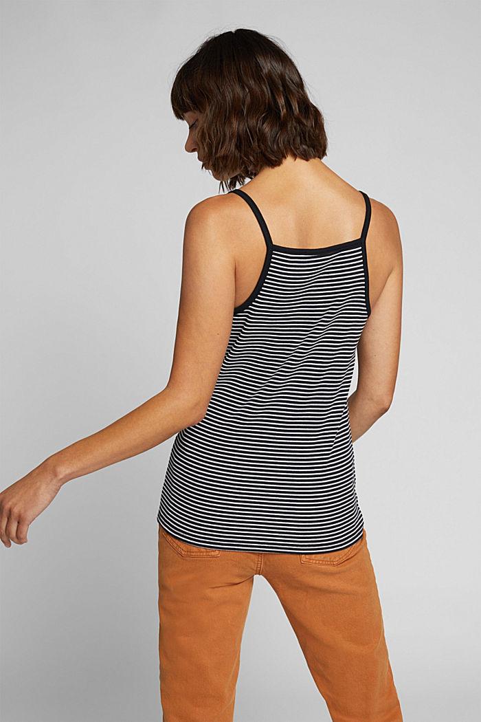 Striped rib jersey top, BLACK, detail image number 3