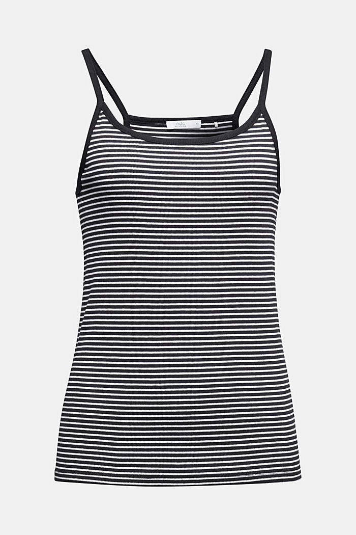 Striped rib jersey top
