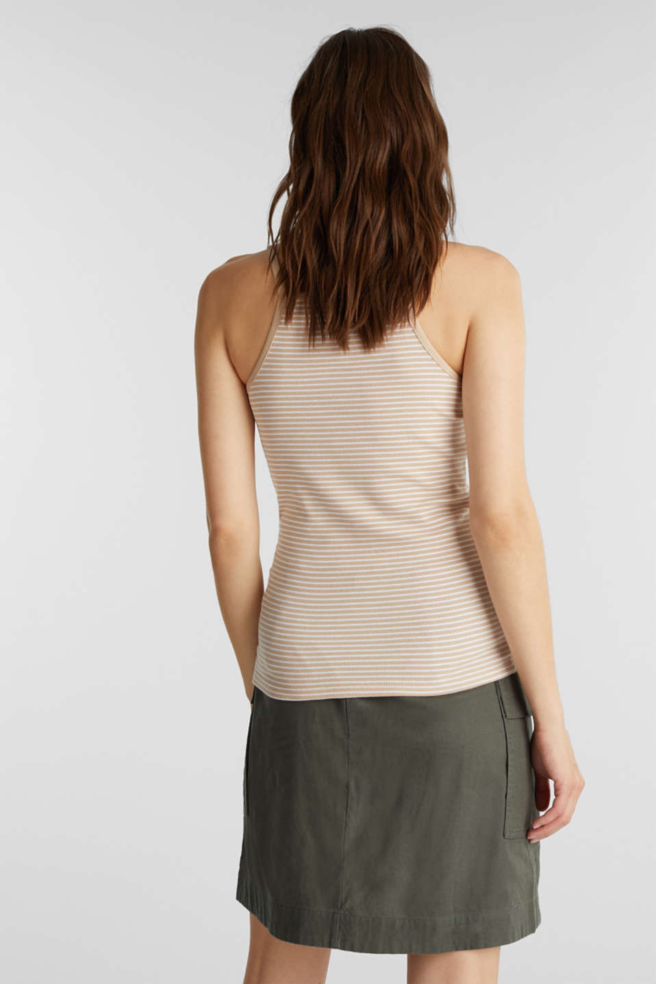 Striped rib jersey top, SAND, detail image number 3
